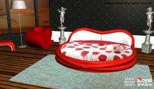 Love Unlimited round love bed red alexandre arazola aleks design studio french designer guangzhou china