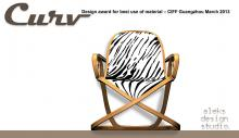 Curv bentwood chair design by Alexandre Arazola