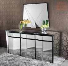 Galactica mirror buffet designed by Alexandre Arazola - French furniture designer