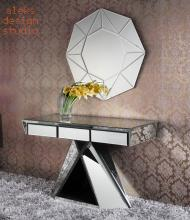 Galactica mirror dressing table designed by Alexandre Arazola - French furniture designer